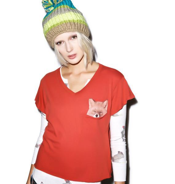 Wildfox Couture Pocket Fox Romeo Tee