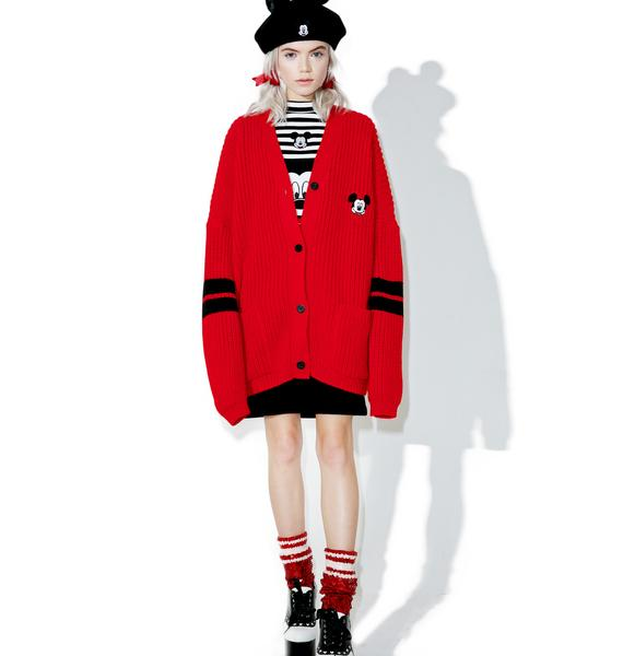 Lazy Oaf X Disney Mickey Mouse College Cardigan