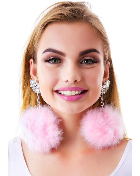 Diamond Dollz Pom Pom Earrings