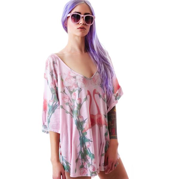 Wildfox Couture Florida Garden Butterfly Tunic