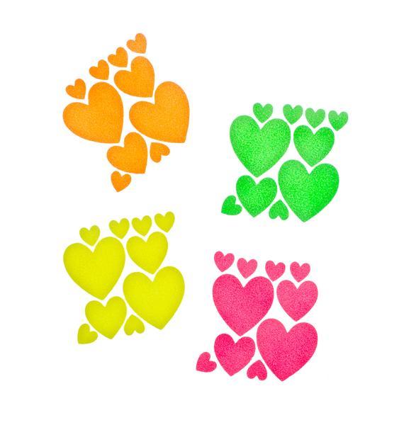 Sasswear Heart Blacklight Body Stickers