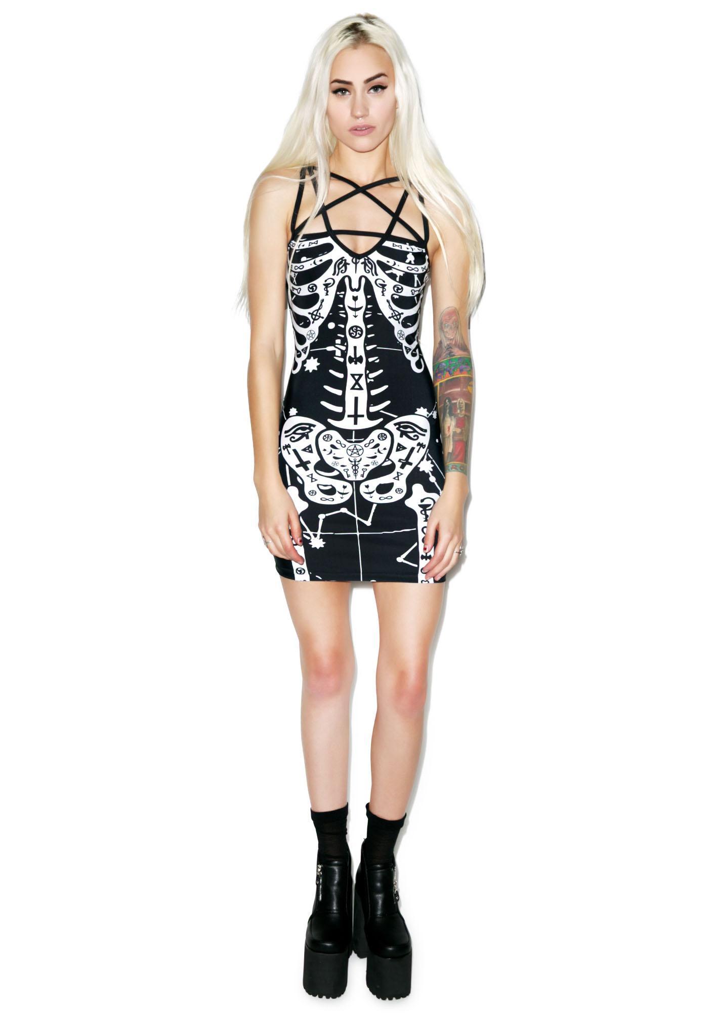 Occult Bones Pentagram Dress