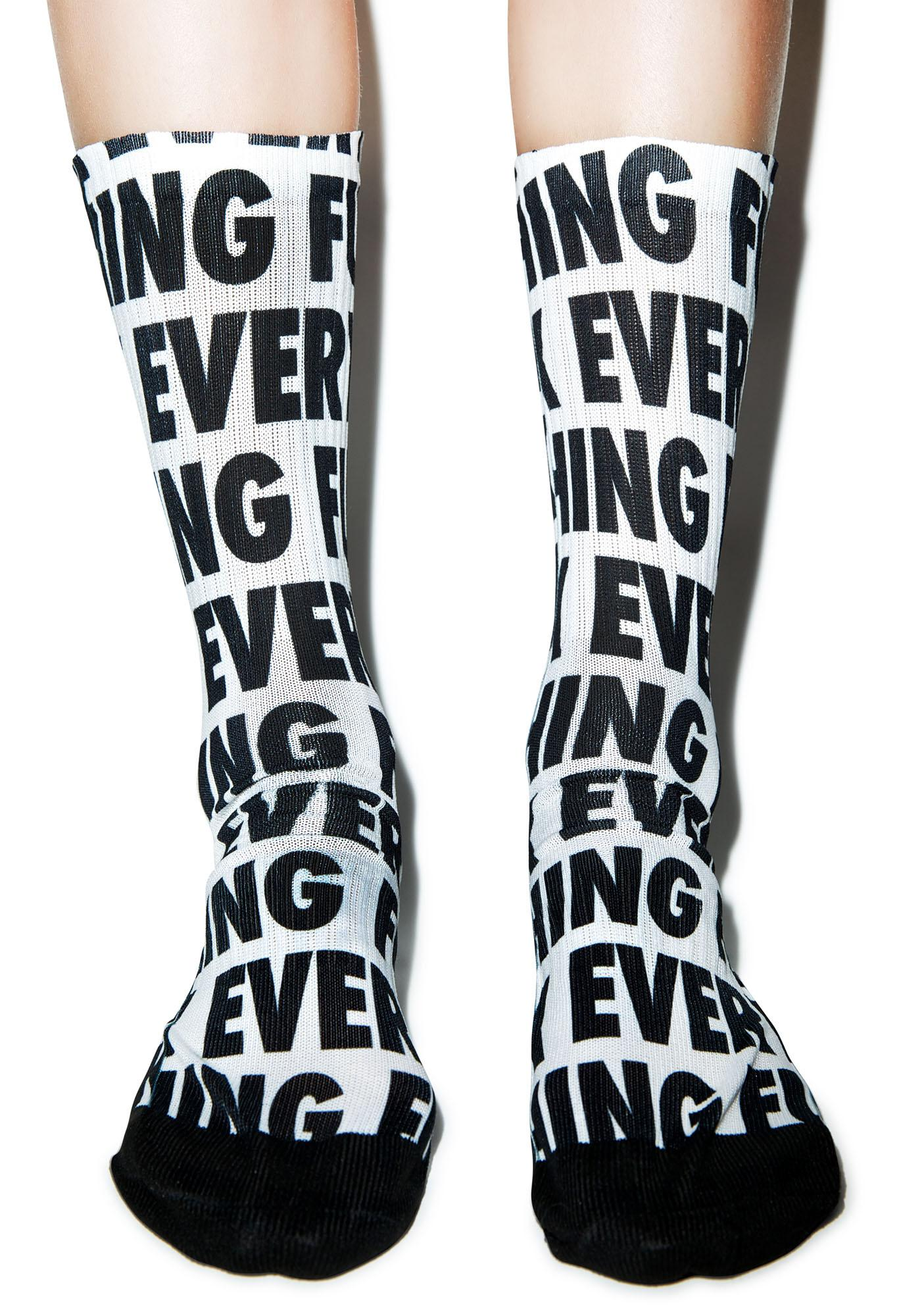 Kill Brand Fuck Everything Socks