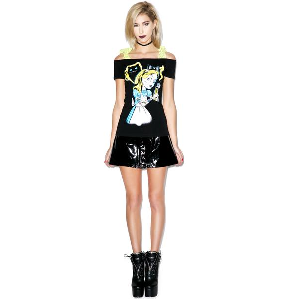 Too Fast Zombie Alice Annabel Bow Top