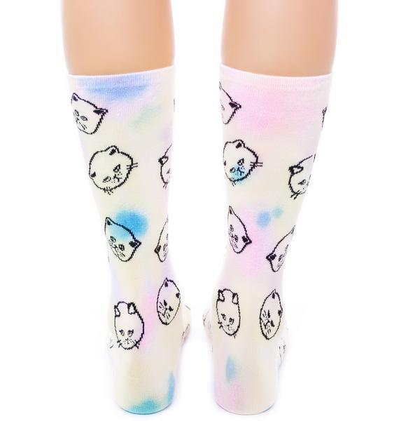 UNIF Cat Dye Socks
