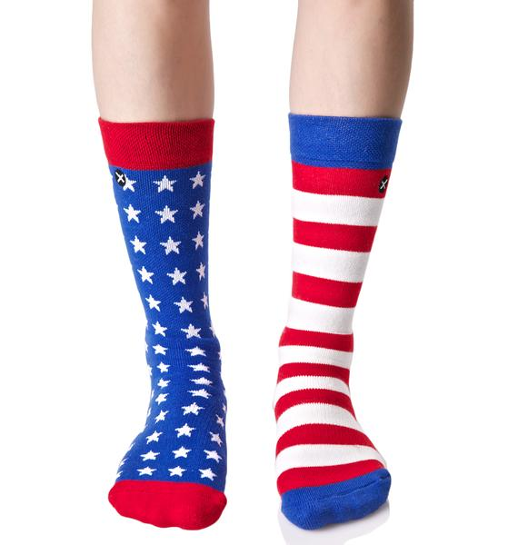 Odd Sox USA Flag Socks