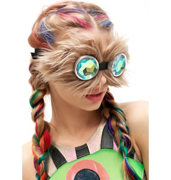 H0les Eyewear Brown WTF Goggles