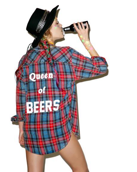 Queen Of Beers Flannel