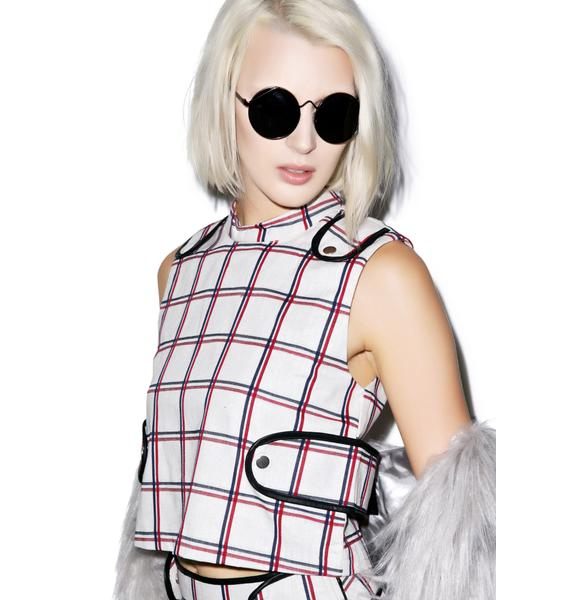 Plaid Habits Top