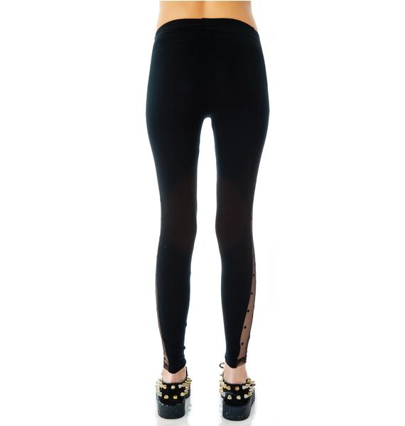 Lip Service Swiss Dot Mesh Contrast Leggings