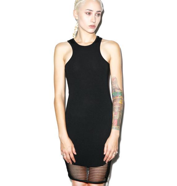 BLQ BASIQ Don't Mesh With Me Tank Dress