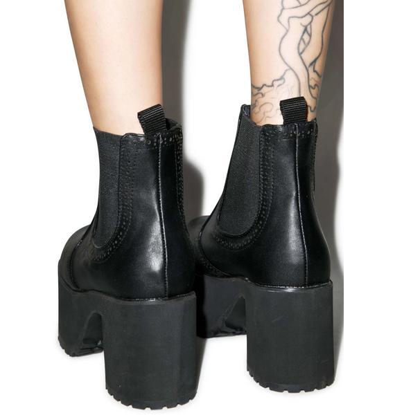 T.U.K. Chelsea Nosebleed Platform Boots