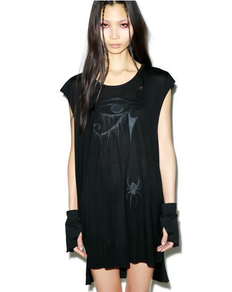 Blackest Black Sheer Jersey Top