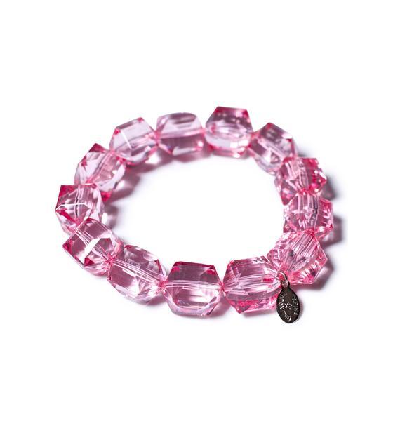 Tarina Tarantino Pink Punker Bracelete