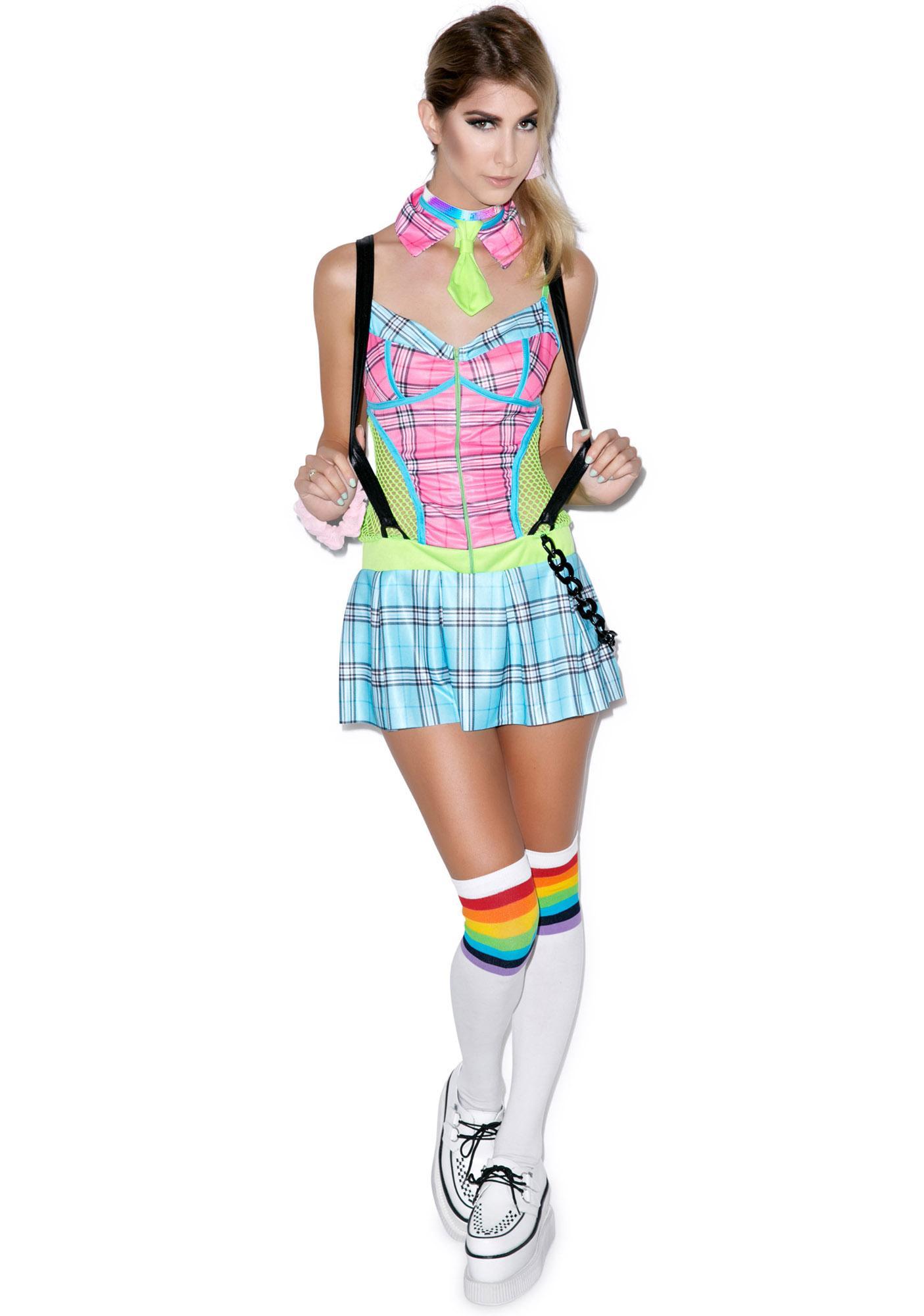 Day Glow School Girl Set