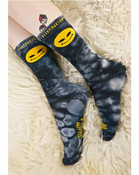 Smile Alien Socks