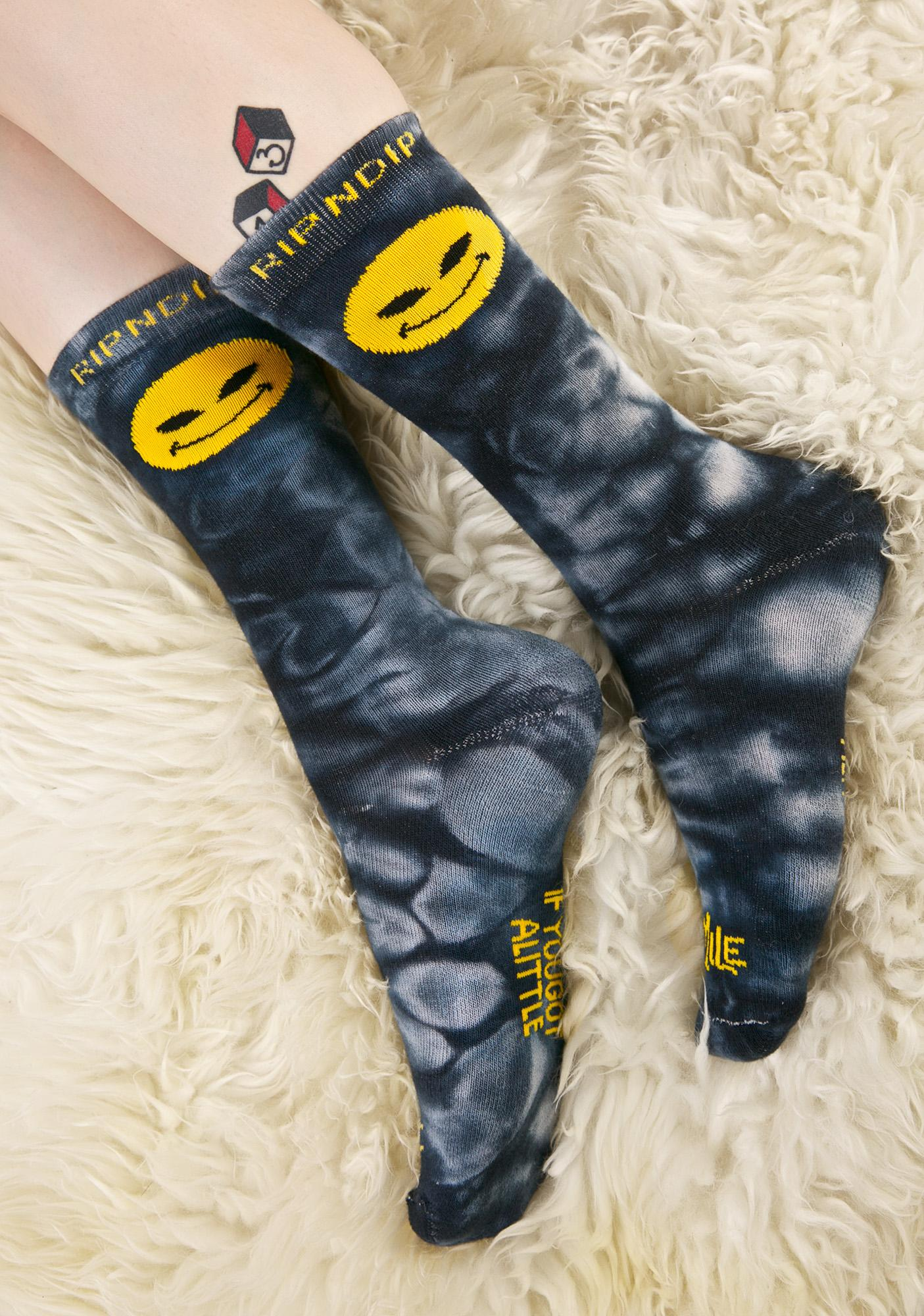 RIPNDIP Smile Alien Socks