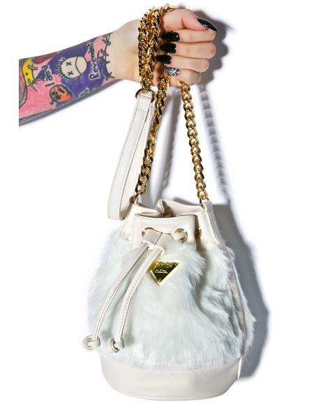 Candy Fur Mini Bucket Bag