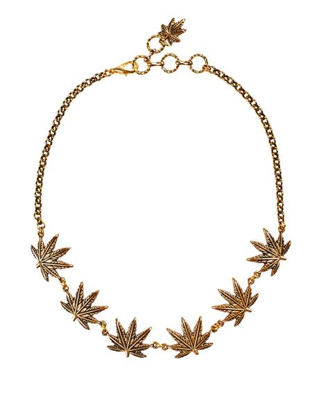 Tattoo Leaf Choker
