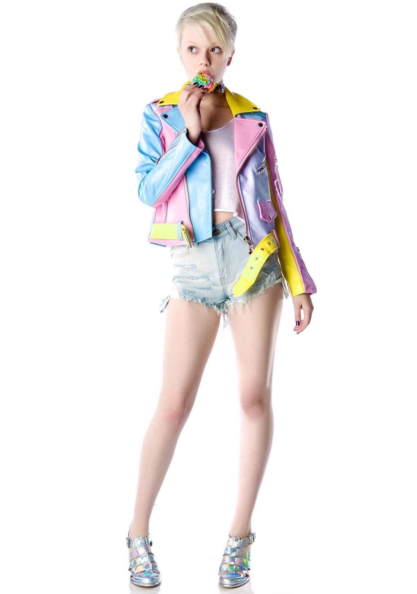 UNIF Pastel Moto Jacket