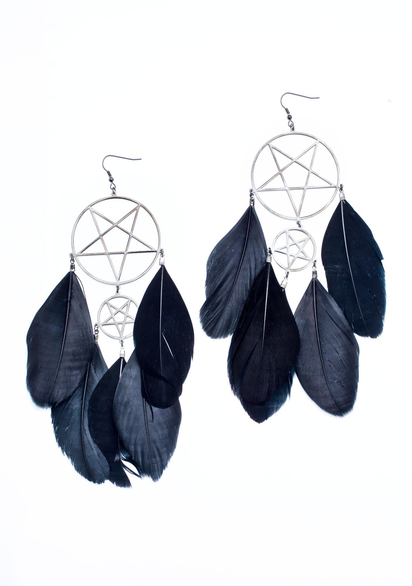 Killstar Nocturnal Dreamcatcher Earrings