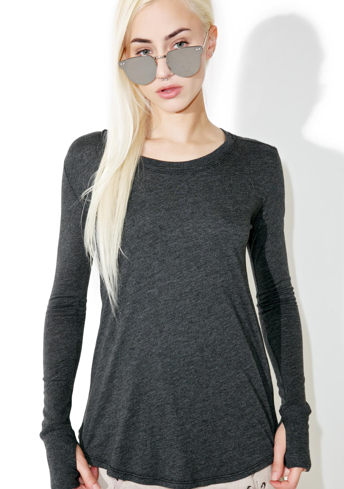 Groceries Apparel Black Vail Long Sleeve Tee