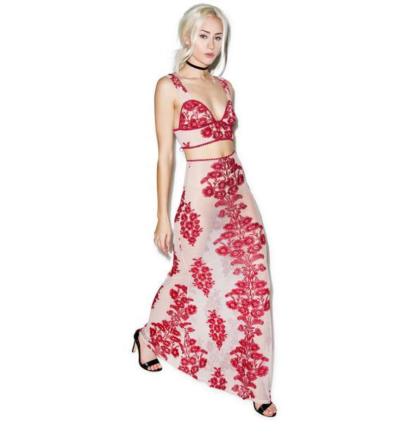 For Love & Lemons Temecula Maxi Skirt