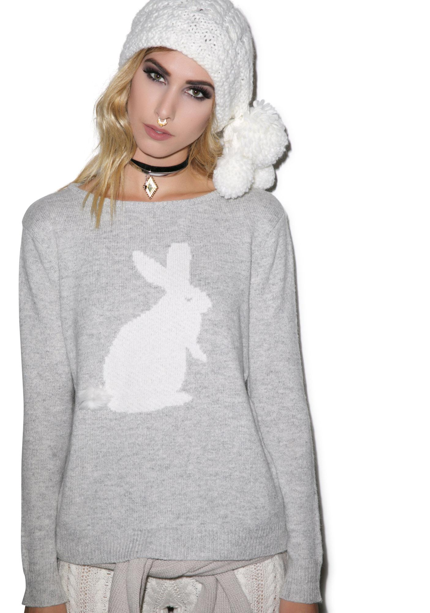 For Love & Lemons Snow Bunny Sweater