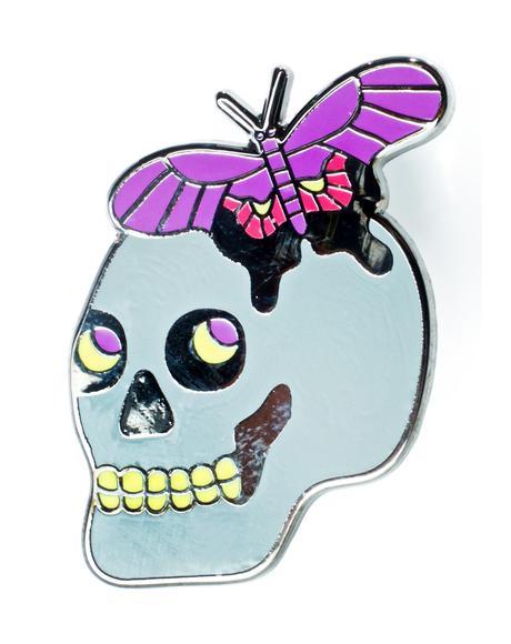 Butterfly Skull Pin