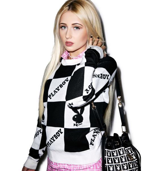 Joyrich X Playboy Checkered Knit Crew