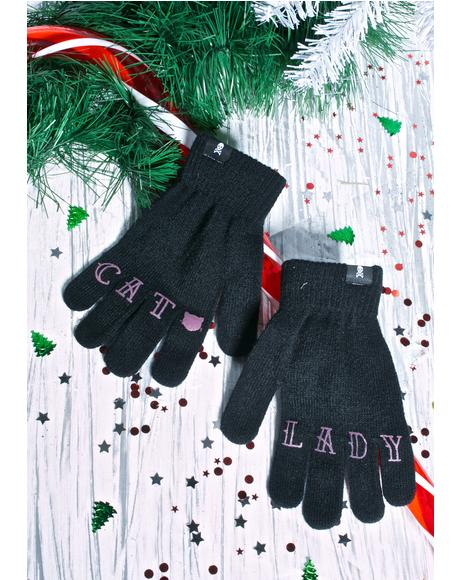 Cat Lady Knit Gloves