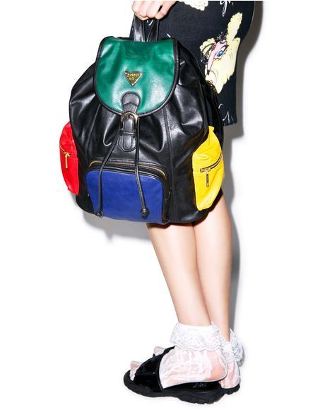 Progressive Color Block Mini Backpack