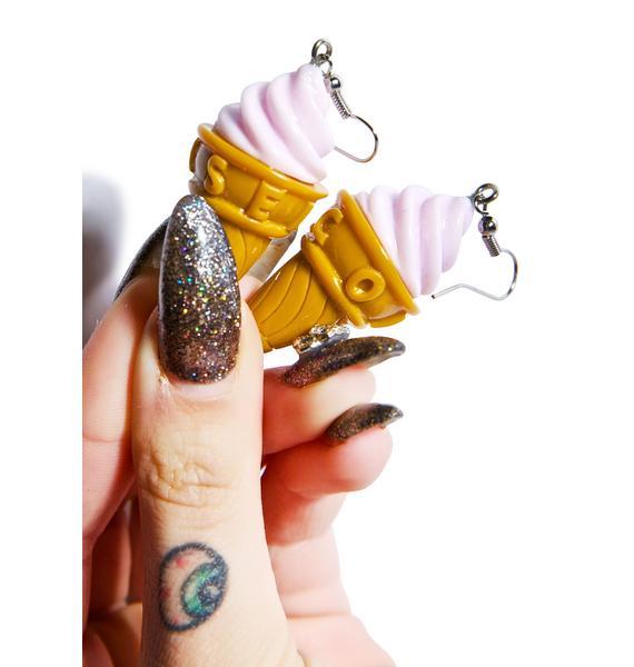 Soft Serve Ice Cream Earrings