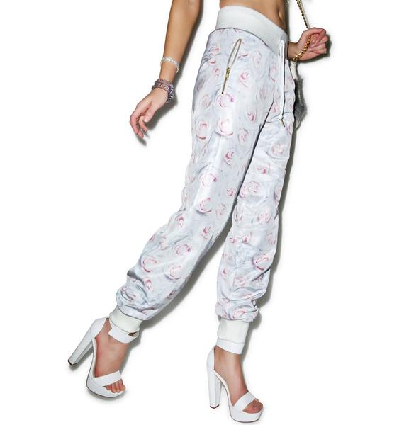 Joyrich White Rose Reverse Pants