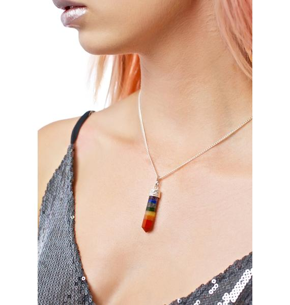 Rock n Rose Nova Seven Chakra Gemstone Necklace