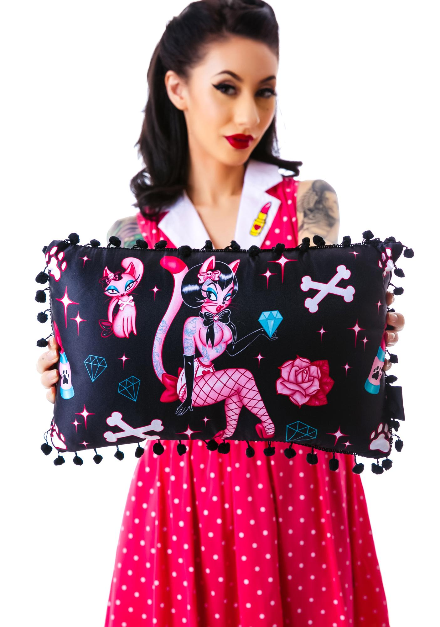 Sourpuss Clothing Pretty Kitty Pillow