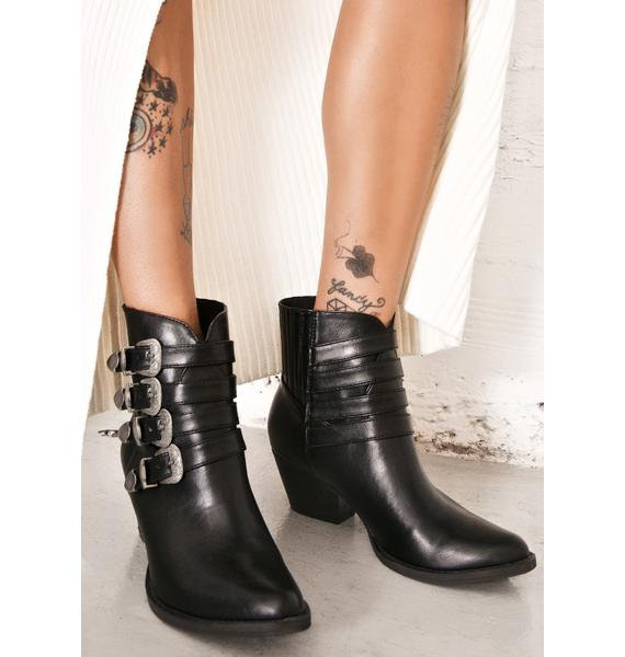 Glamorous High Noon Buckled Boots