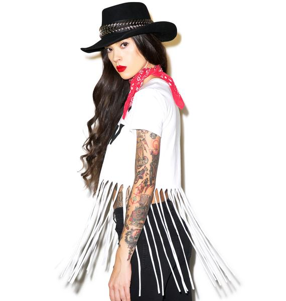 Disturbia Daughters Fringe Tee