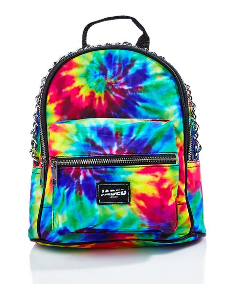 Chained Tie Dye Mini Backpack