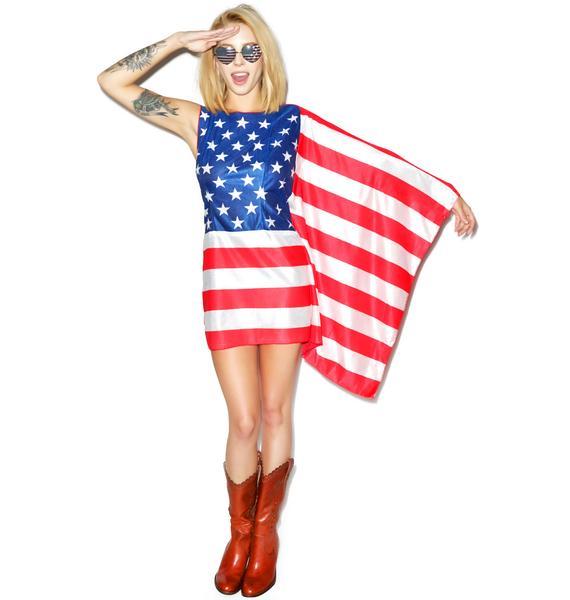 Miss Murrica Flag Dress