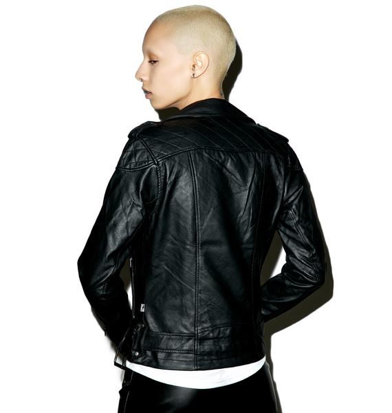 Tripp NYC Quilted Moto Jacket