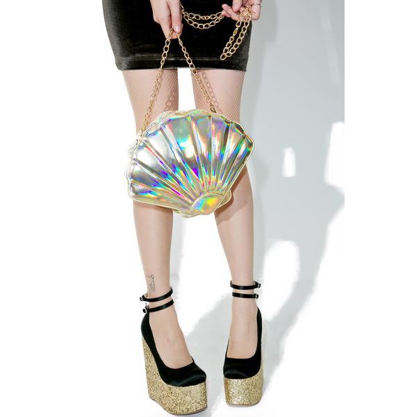 Nila Anthony Gilded Seashell Bag