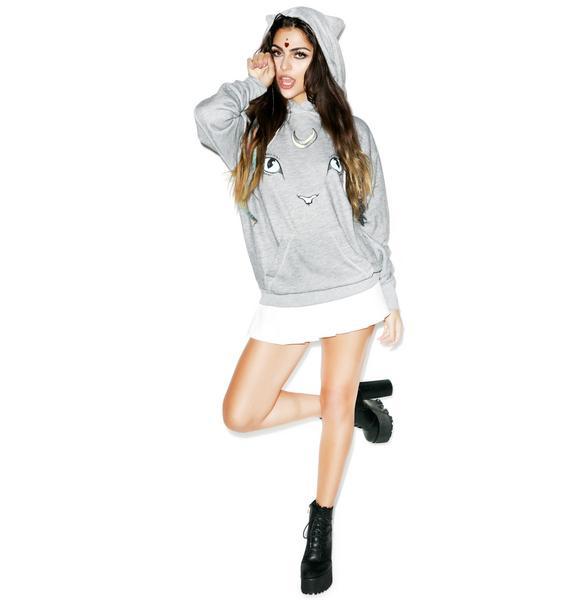 Wildfox Couture Cat & Moon Cuddles Hoodie