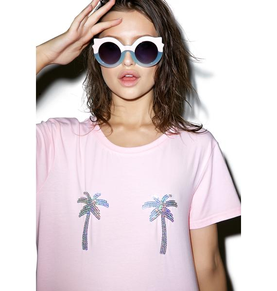 Local Heroes Sequin Palms Tee