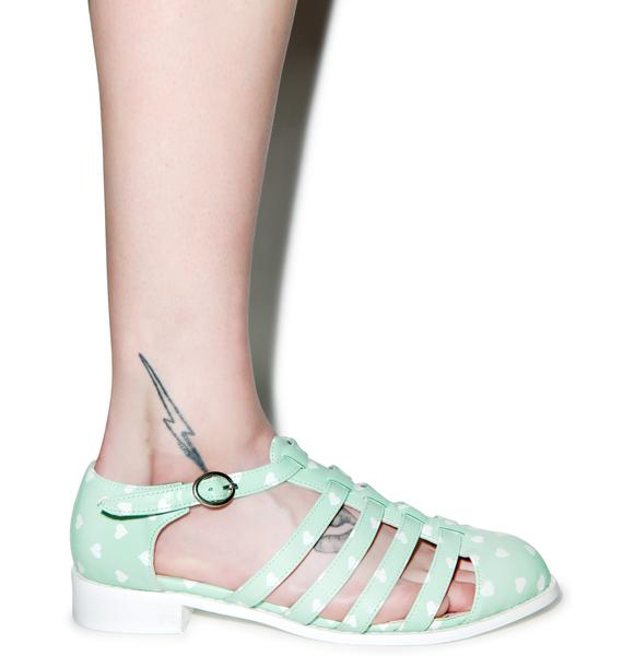 Iron Fist Ghastly Heart Fisherman Sandals
