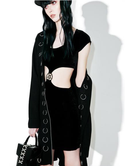 She's A Hoodbat Bodycon Dress