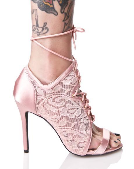 Heartthrob Lace-Up Heels