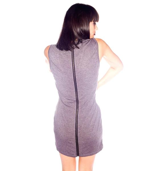 One Teaspoon Outlaw Zip Mini Dress