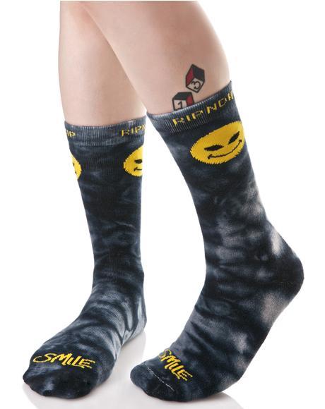 Smile Alien Socks