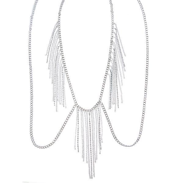 Avery Rhinestone Body Chain